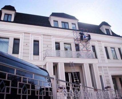 Ремонт фасада элитного коттеджа
